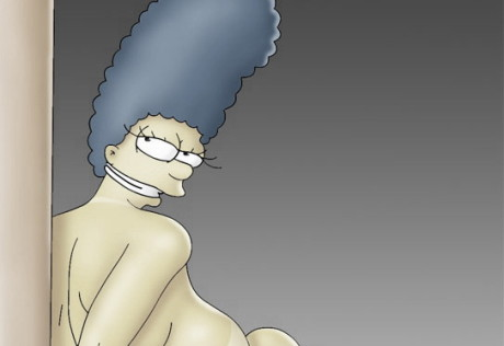 Marge Simpson horny comix